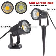 10X IP65 Outdoor Garten LED-Licht 220 V 110 V 5 Watt COB LED Rasen Spike Licht Teich Pfad Landschaft Spot Glühbirnen(China (Mainland))