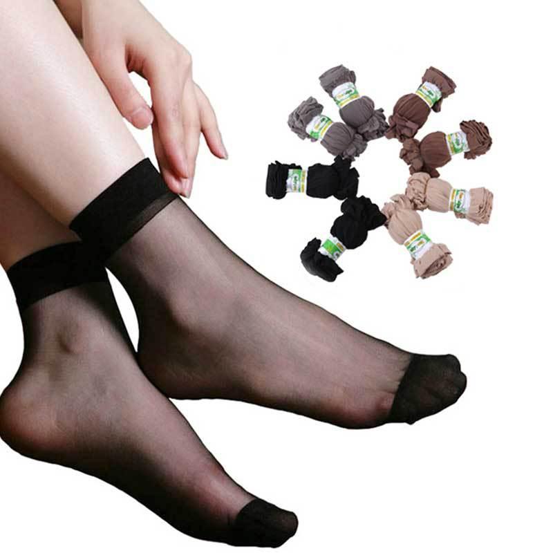 20 Pairs/Lot Women Socks 2015 Summer Ultrathin Ankle Socks Elastic Nylon Transparent Socks For Women Calcetines CDC210B(China (Mainland))