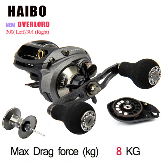 New OverLord Left/Right Hand Bait Casting Reels Bait casting dual brake Fishing Reel Peche Wheel Cast Lure Reels(China (Mainland))