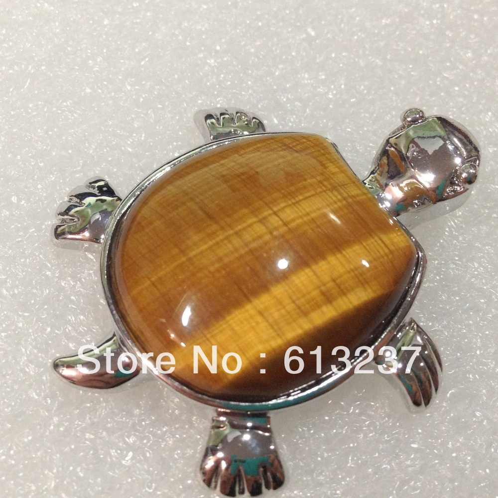hot free Shipping new 2014 Fashion Style diy New Charming Turtle type tiger's eye pendant 18KGP MY5230(China (Mainland))