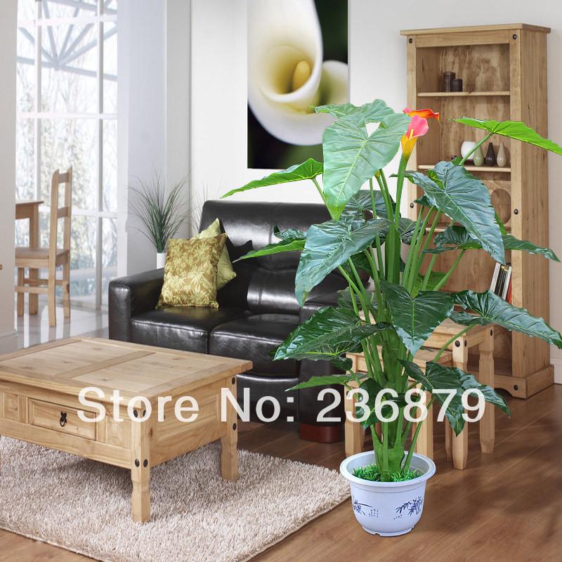 High artificial calla french plants bonsai artificial fake for Artificial plants indoor decoration