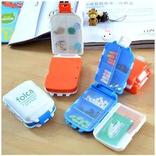 Folding Vitamin Medicine Drug Pill Box Makeup Storage Case Container Free Shipping ZH065(China (Mainland))