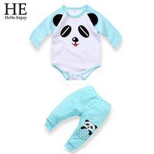 Autumn baby winter romper clothing sets newborn Cartoon  panda kids rompers boy girl baby clothes 0~2 year wear New 2015(China (Mainland))