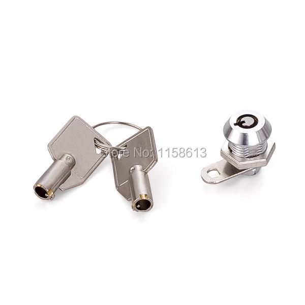 50 pieces 11mm small hex nut fixed keyed alike zinc cylinder cam lock cash box lock(China (Mainland))