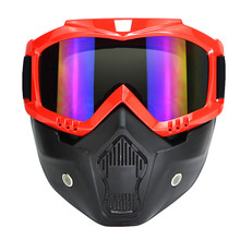 2016 New motocross helmet Mask Detachable Goggles And Mouth Filter Perfect for Open Face Motorcycle Half Helmet Vintage Helmets(China (Mainland))