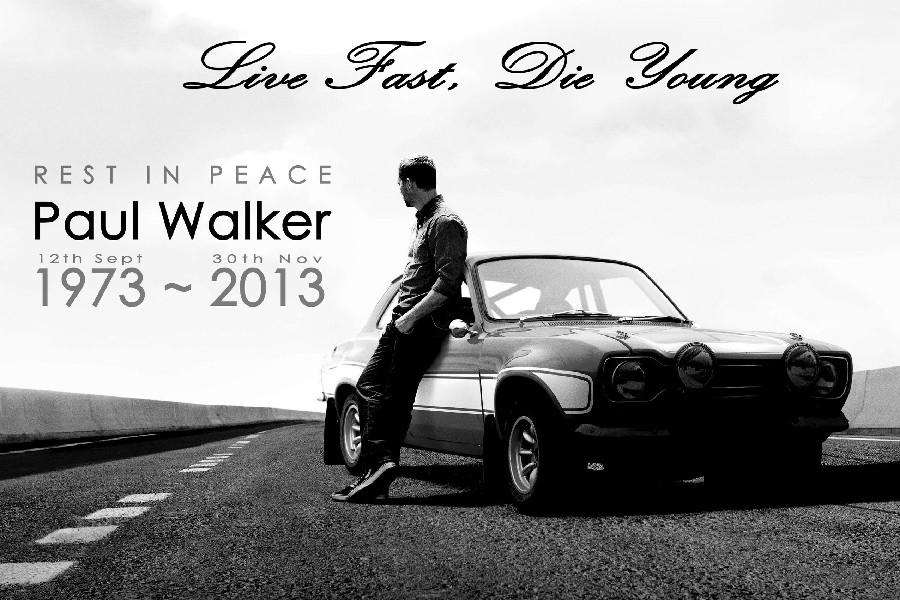 Paul Walker Fast Furious Classic Car Classic BW RIP cloth silk art wall poster and prints(China (Mainland))