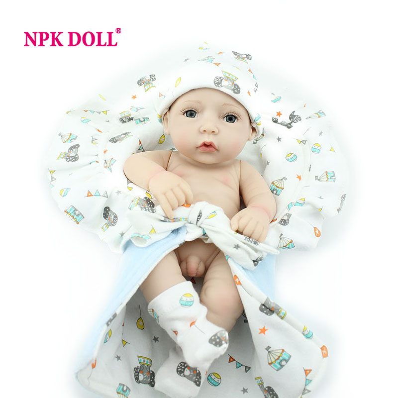 NPKDOLL 10 Inch Doll Reborn Full Vinyl Baby Reborn Doll For Kids Gift Playmate Toys(China (Mainland))