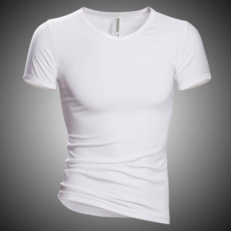 Mens t shirt high quality 2016 men casual undershirt solid for High quality mens shirts
