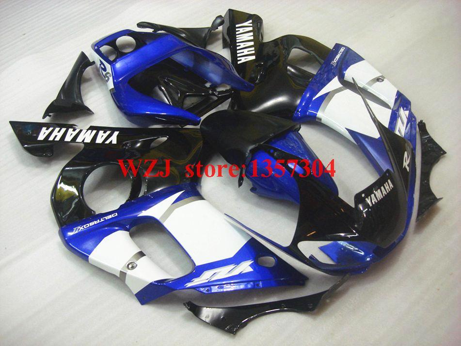Fairing Kits for Yamaha YZFR6 1998 - 2002 98 99 White Blue Black Injection Fairing YZF R6 01 02(China (Mainland))