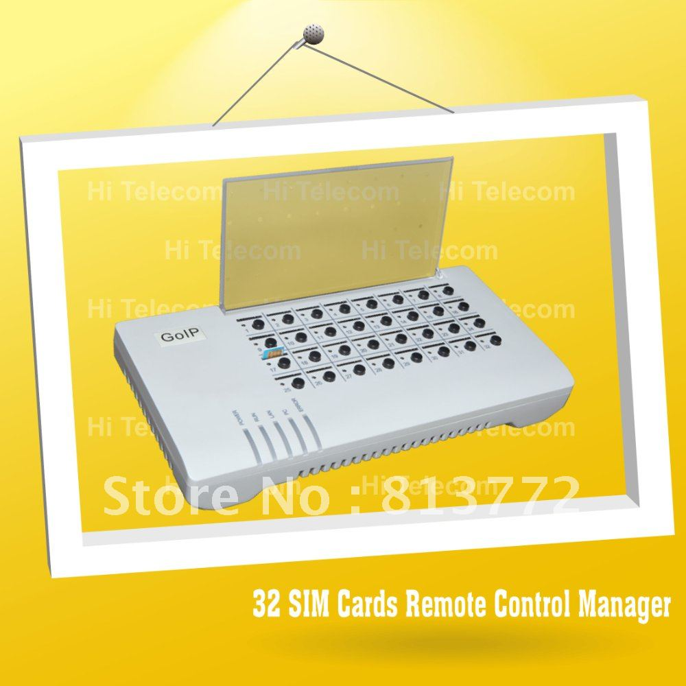 32 Port voip SIM bank sip gateway \ sip ip phone \ skype phone working with goip4 and goip8(China (Mainland))