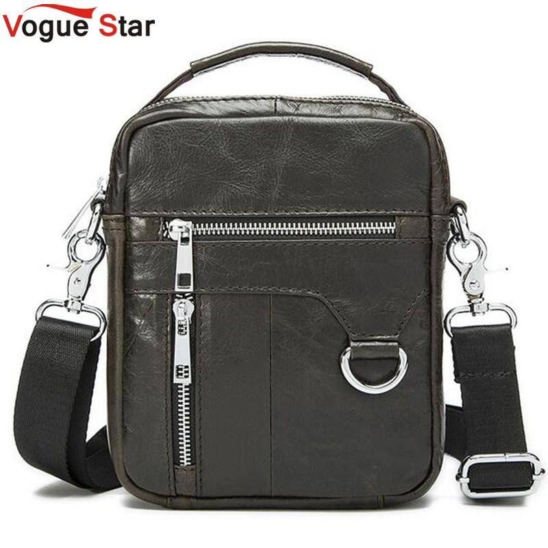 Vogue Star Hot sale New fashion genuine leather men bags small shoulder bag men messenger bag crossbody leisure bag LS095(China (Mainland))