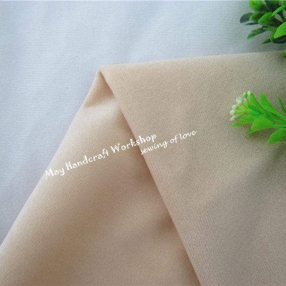 Half Meter Light Khaki Doll Skin Fleece Fabric Tilda Solid Color Plush Cloth for Sewing Patchwork Quilting Flesh Tissue150*50cm(China (Mainland))
