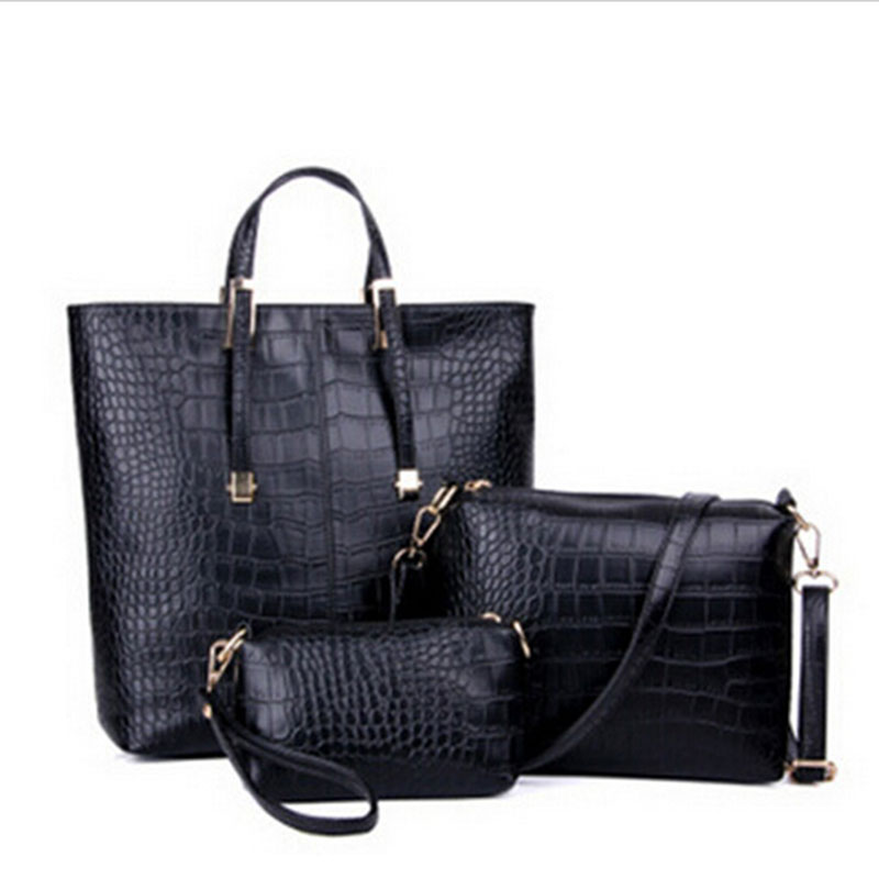 2015 Hot Sale  New  PU Leather Crocodite Women Bag Fashion Bag