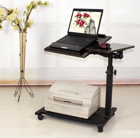 Seamless laptop mount lounged computer desk bedside tables with fan floor(China (Mainland))