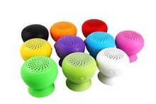 10 pcs/lot Mini Speaker Mushroom Waterproof Silicon Suction Cup Handfree for smartphone