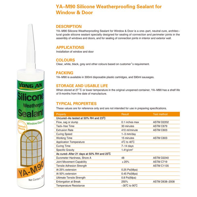 Aliexpress.com : Buy YA M90 silicone weatherproofing sealant for ...