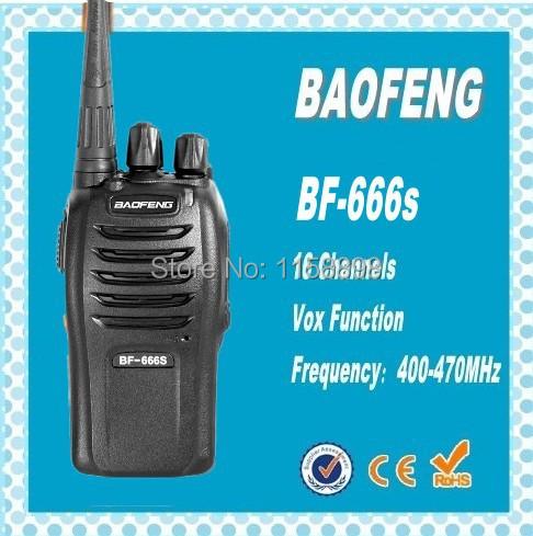 DHL freeship+BAOFENG BF-666S UHF Long Range Handheld Transceiver High Illumination Flashlight WalkieTalkie 10KM Two-Way Radio(China (Mainland))