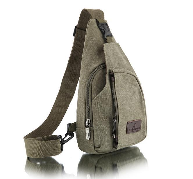 FASHION TENDER Vintage Men Casual chest bags Outdoor Travel Hiking Sport Chest Canvas Male Retro Military Shoulder Bag LI-263<br><br>Aliexpress