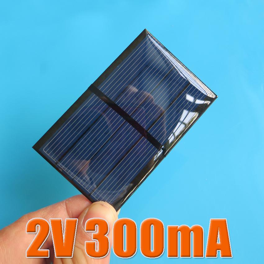2PCS X 2V 300mA Mini monocrystalline polycrystalline solar Panel small solar cell PV module for DIY solar Kits(China (Mainland))