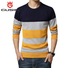 2016 Casual Brand Mens Sweaters O-Neck Striped Slim Fit Knitting Mens Sweaters And Pullovers Men 5XL 876(China (Mainland))
