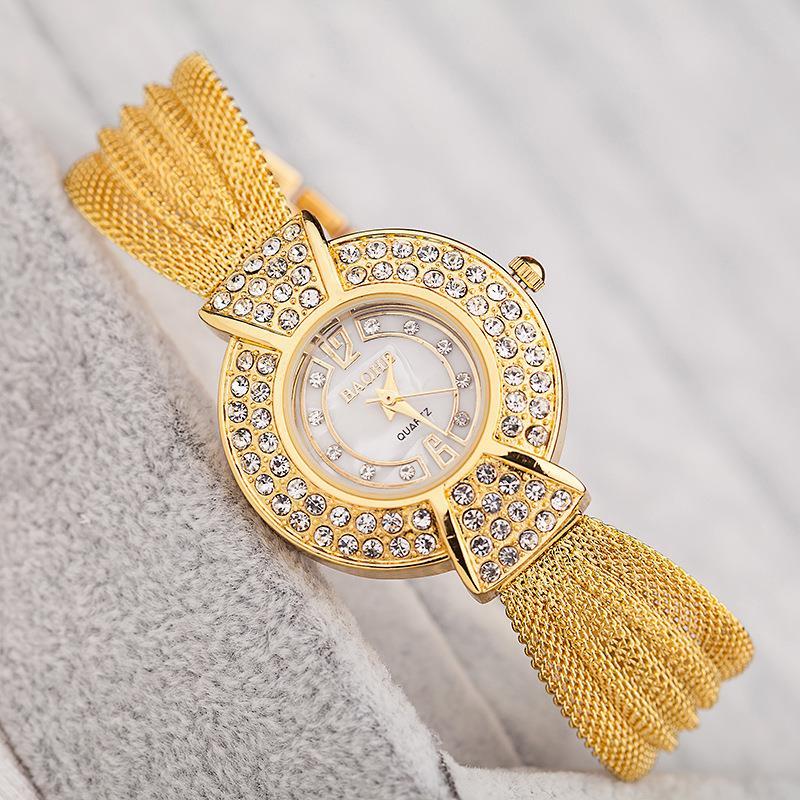New Fashion Ladies Luxury Retro Bracelet Watch Diamond Dial Quartz Wristwatch Women Dress Watches Relogio Feminino LZ210<br><br>Aliexpress