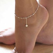 Bohemian Yıldız Kabuk Ayak Bileği Bilezik Bacak ayak takısı Basit Kabuk Halhal Kadınlar için Plaj Charm Boho Aksesuarları Mujer(China)