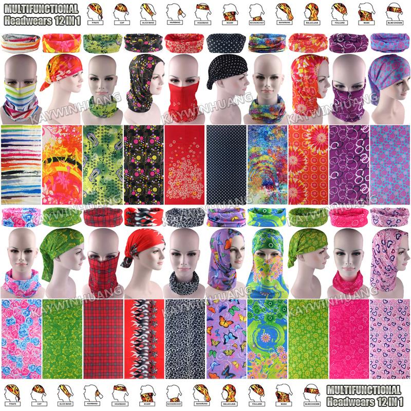 Free Shipping 1pc/lot Retail Latest Fashion Various Microfiber Tube Outdoor Sports Headwear Headbands Multi Bandana For Women(China (Mainland))