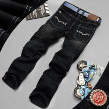 Mode Biker Jeans Taste Fly Hosen Marke Designer Herren Jeans Hohe Qualität Blau Schwarz Farbe Gerade Zerrissene Jeans Für Männer(China)