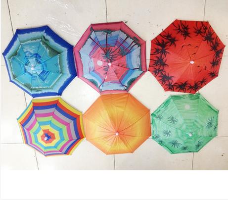 Anti-uv Small umbrellas cap 31 umbrella hat watermelon hat umbrella wearing umbrella hat(China (Mainland))
