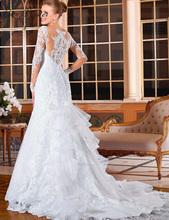 Buy C.V Vestido De Noiva 2017 Elegant Wedding Gowns Bridal Dresses Popular Vintage Mermaid Long Sleeves Lace Wedding Dress for $94.40 in AliExpress store