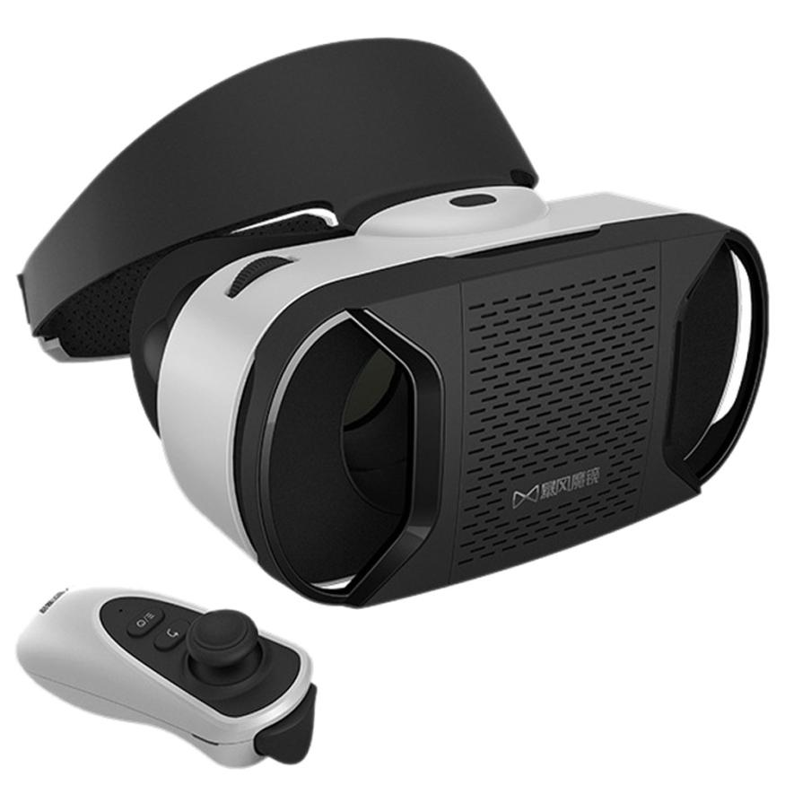 HOT SALE Google Cardboard WIFI VR BOX Virtual Reality 3D Glasses For For Samsung Galaxy S7 + Remote Control Virtual glasses(China (Mainland))