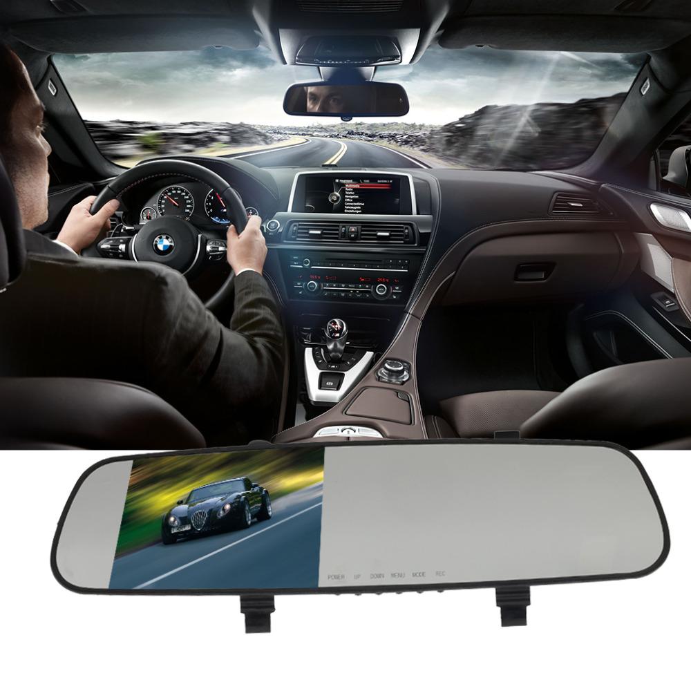 car camera rearview  1 lens mirror auto dvrs cars dvr parking video recorder registrator dash cam full hd 1080p night vision