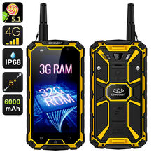 """Buy original CONQUEST S8 Rugged Waterproof Phone 3GB RAM 6000mAH Quad Core 5"""" HD Android Ip68 GPS 4G LTE FDD Radio UHF Walkie talkie for $397.80 in AliExpress store"""
