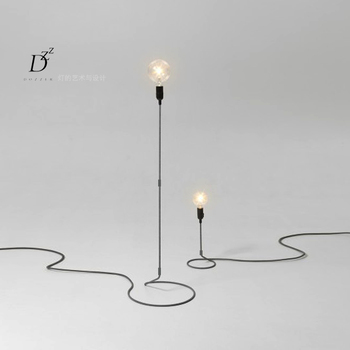 Modern brief fashion simple iron black E27 table lamp study lamp