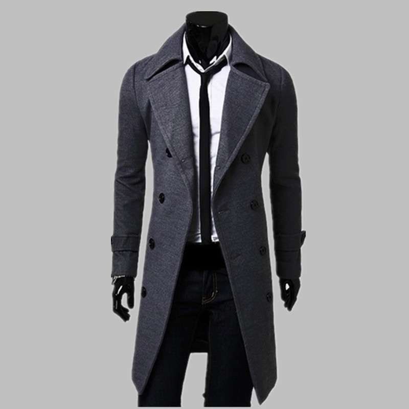 Popular Mens Coat Trench-Buy Cheap Mens Coat Trench lots from ...