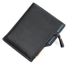 Дизайнерский роскошный известный бренд короткий маленький кожаный мужской кошелек для монет клатч Walet держатель для карт Vallet Portomonee(China)