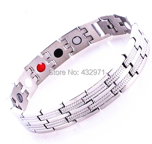 316L titanium stainless steel infrared ion magnet germanium energy bangle bracelet with magnetic 4 in 1 bio health benifits(China (Mainland))