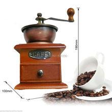 Старинные ручки для вращения кофе заусенцев мельница античный руководство мясорубки напитков производитель портативный руководство кофемолка мельницы кофейных зерен