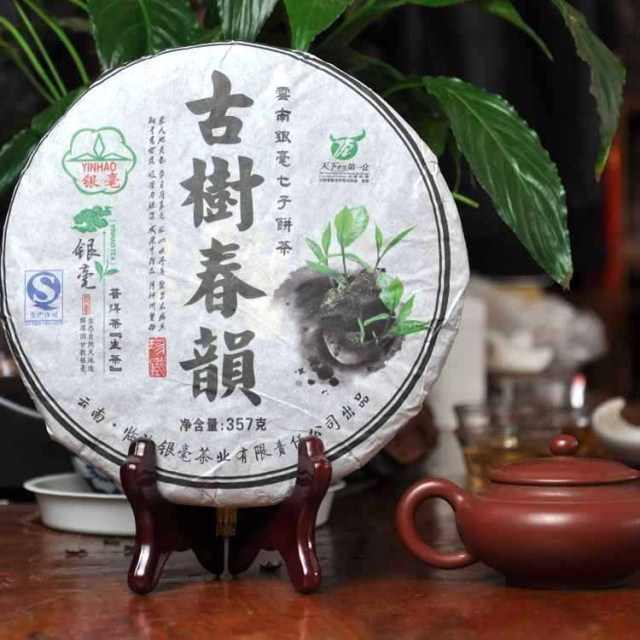 Yunnan Silver Pekoe organic tea wild shen sheng raw puer tea for health care 357g chinese