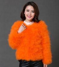 2016 hot sale sweetangel Ostrich wool fur wool Large size women coat feather fur women jacket womens winter jackets and coats(China (Mainland))