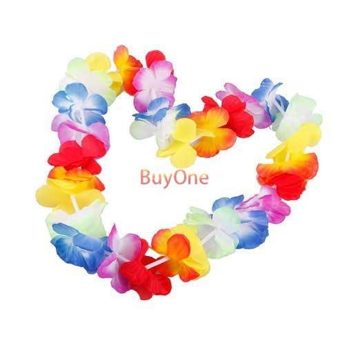 BuyOne Mini 1PCS 2PCS Hawaiian Tropical Beach Party Theme Luau Flower Lei Night Fancy Dress Necklace(China (Mainland))