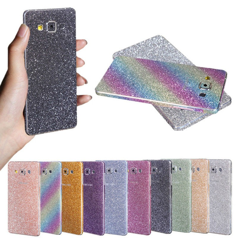 Luxury PET Bling Rhinestone Full Body Glitter Film Case For Samsung Galaxy A3 Sparkly Screen Protector Guard(China (Mainland))