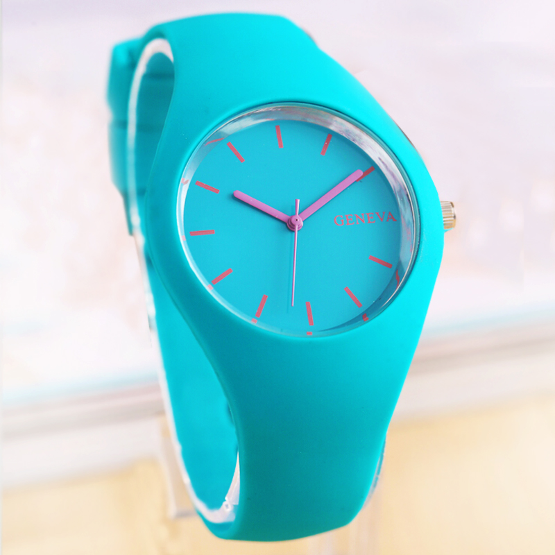 New Geneva Movement Silicone Watch Candy Color Couture Fashion Leisure Watches Wholesale Various Colors<br><br>Aliexpress