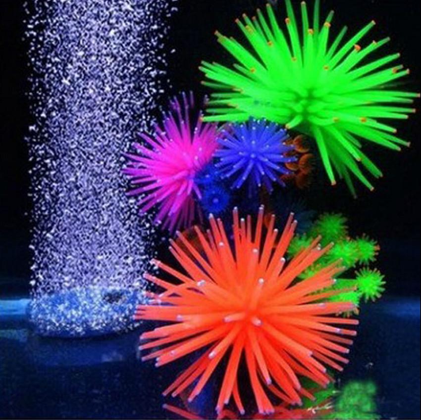 New Silicone Aquarium Fish Tank Decor Artificial Coral Plant Underwater Ornament Random Color(China (Mainland))
