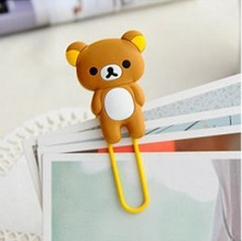 1 PCS Relaxed Bear Chick Rabbit Metal Bookmark Clip Large Cartoon Paper Needle(China (Mainland))