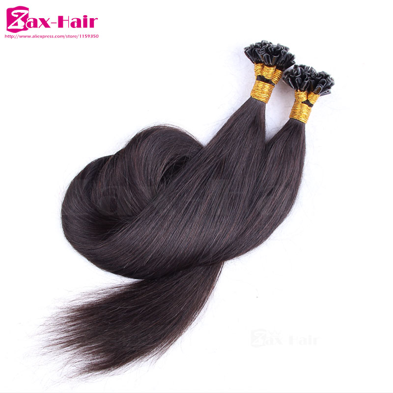 Fashion Prebonded remy hair extensions Straight Fusion Hair Extensions Brazilian virgin human hair top quality grade 6A stocked<br><br>Aliexpress