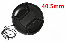 Free shipping 40.5mm center pinch Snap-on cap cover for camera 40.5 mm Lens