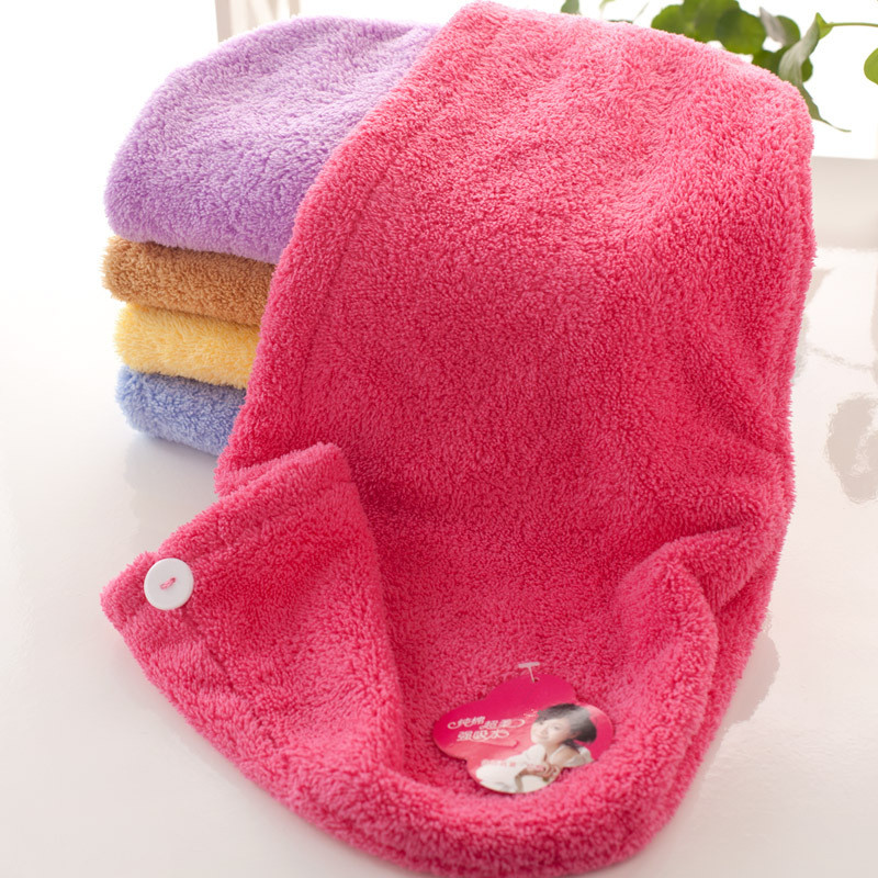 Bathroom Curly Wrap Hair Towels Absorbent Microfiber Magic Hair Drying Towels Head Cap Salon Towels Quick Dry for Womens Girls(China (Mainland))