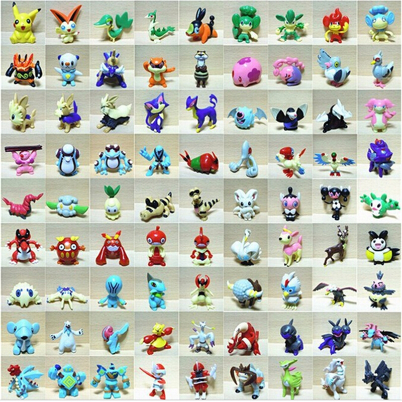 Wholesale toys 144pcs Pokemon mini random Pearl Figures New 2-3 cm Free Shipping Drop Shipping chaos black best gifts for kids(China (Mainland))
