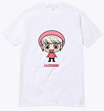 Buy 2016 summer simple white t shirt kpop got7 member cartoon image printing o neck short sleeve t-shirt plus size lovers tees for $10.56 in AliExpress store